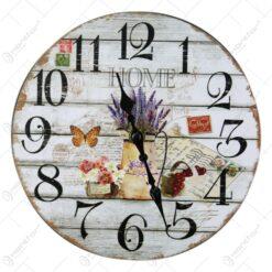 Ceas de perete din lemn 20 CM - Home/Lavender
