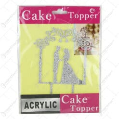 Ornament pentru tort realizat din plastic - Design Mire si mireasa