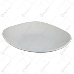 Farfurie adanca patrata din ceramica Alb