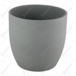 Ghiveci din ceramica Basel Stone Gri 20x18 CM
