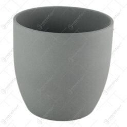 Ghiveci din ceramica Basel Stone Gri 16x15 CM