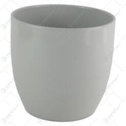 Ghiveci din ceramica Basel Elegance Gri 16x15 CM