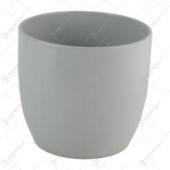 Ghiveci din ceramica Basel Elegance Gri 14x13 CM