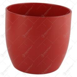 Ghiveci din ceramica Basel Splash Rosu 14x13 CM