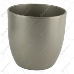 Ghiveci din ceramica Basel Elegance Argintiu 21x20 CM