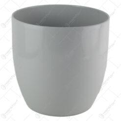 Ghiveci din ceramica Basel Elegance Gri 24x23CM