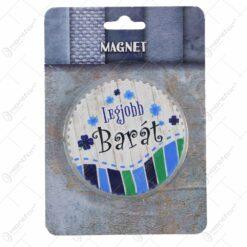 "Magnet frigider rotund din ceramica 7 CM ""A legjobb..."" - Modele variate"