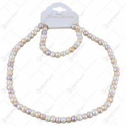 Set colier si bratara din perle sidefate