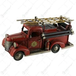 Macheta metalica masina de pompieri retro 30 CM