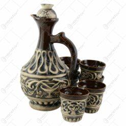 Set pentru vin din ceramica cu 6 cani - Model Isabela