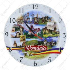 Ceas rotund din lemn Romania 28 CM
