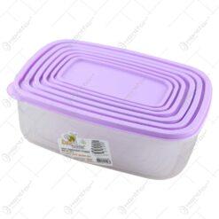 Set 6 cutii pentru depozitare alimente din plastic 25x18 CM