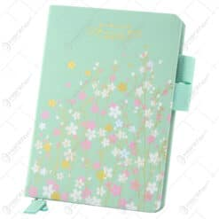 "Agenda nedatata cu motive florale ""Simple Life""10x15 CM"