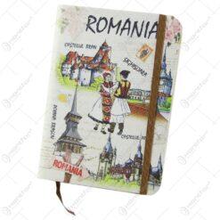 Agenda nedatata souvenir Romania cu cuplu 10x14 CM