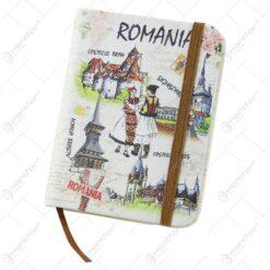 Agenda nedatata souvenir Romania cu cuplu 8x10 CM