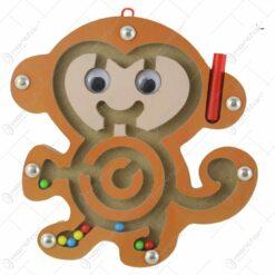 Joc labirint cu magnet din lemn Animale 15-20 CM