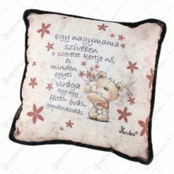 """Perna decorativa 26x26 CM """"Egy nagymama sziveben a szeretet kertje no..."""""""