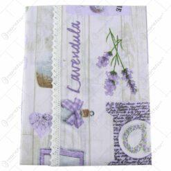 Fata de masa 120x140 CM cu dantela Lavender din bumbac 50%