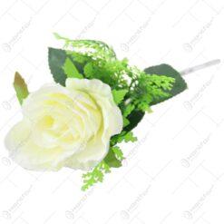 Floare artificiala Trandafir cu asparagus 34 CM