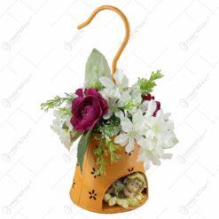 Aranjament floral cu figurina zana 28 CM