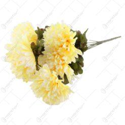 Buchet artificial cu crizanteme 52 CM