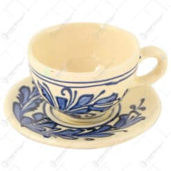 Ceasca cu farfurie din ceramica de Corund