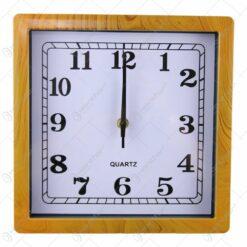 Ceas de perete patrat din plastic 25x25 CM