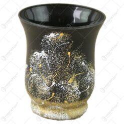 Vaza din sticla 9 CM - Vulcan Negru