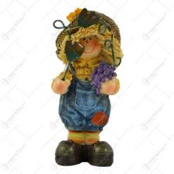Figurina baiat/fata gradinar din rasina 11 CM