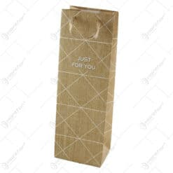 Punga cadou pentru bauturi 12x36 CM - Just for you