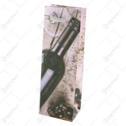 Punga cadou pentru bauturi 12x36 CM - Vin Coacaze negre