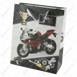 Punga cadou din hartie 26x32 CM - Motocicleta