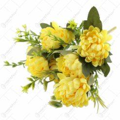 Buchet artificial cu crizanteme 30 CM