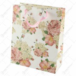 Punga cadou din hartie 26x32 CM - Vintage Roses