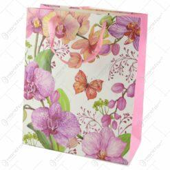 Punga cadou din hartie 26x32 CM - Orhidee