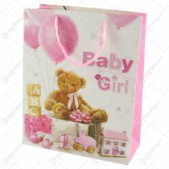 Punga cadou din hartie 26x32 CM - Baby Girl