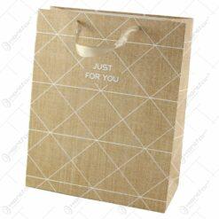 "Punga cadou din hartie 26x32 CM - ""Just for You"""
