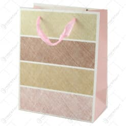 Punga cadou din hartie 18x23 CM - Textil Roz