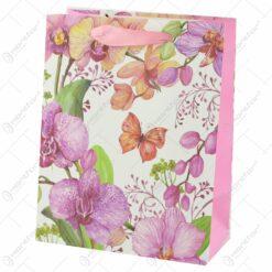 Punga cadou din hartie 18x23 CM - Orhidee