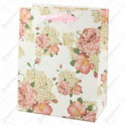 Punga cadou din hartie 18x23 CM - Vintage Roses
