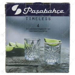 Set 4 pahare lichior din sticla Timeless