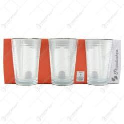 Set 6 pahare apa din sticla Doro