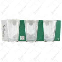 Set 6 pahare apa din sticla Nergis