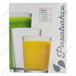 Set 18 pahare din sticla Doro - Pasabahce