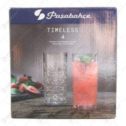 Set 4 paher apa din sticla Timeless