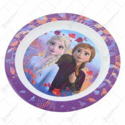 Farfurie intinsa din plastic Frozen 22 CM