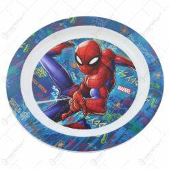 Farfurie intinsa din plastic Spiderman 22 CM