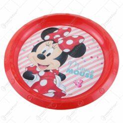 Farfurie intinsa din plastic Minnie Mouse 21 CM