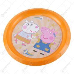 Farfurie intinsa din plastic Peppa Pig 21 CM