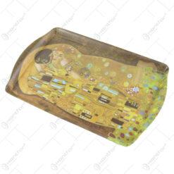"Tava din plastic ""Sarutul"" de Gustav Klimt 35x23 CM"